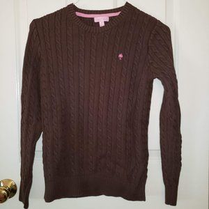 Lilly Pulitzer Cableknit Sweater - Brown size M